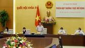 Phó Chủ tịch Quốc hội Nguyễn Khắc Định phát biểu tại phiên họp