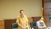 Phó Chủ tịch Quốc hội Nguyễn Đức Hải phát biểu tại phiên họp