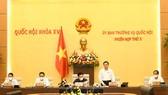 Phó Chủ tịch Quốc hội Nguyễn Khắc Định điều hành phiên họp