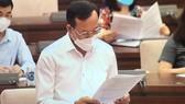 Phó Chánh án Tòa án nhân dân tối cao Nguyễn Trí Tuệ trình bày