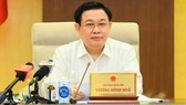 Chủ tịch Quốc hội Vương Đình Huệ phát biểu tại phiên họp