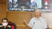 Tổng Bí thư Nguyễn Phú Trọng phát biểu tại cuộc tiếp xúc. Ảnh: TTXVN