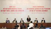 Họp báo về nội dung kỳ họp thứ 2 Quốc hội khóa XV. Ảnh: QUANG PHÚC