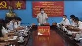 Ông Trương Quốc Lâm, Bí thư Quận ủy quận 11 phát biểu chỉ đạo hội nghị