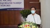 Bí thư Quận ủy quận 12 Trần Hoàng Danh phát biểu tại hội nghị