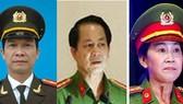 Từ trái qua phải: Đại tá Lý Quang Dũng, Đại tá Nguyễn Văn Kim, Đại tá Trần Thị Ngọc Thuận