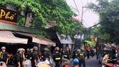 Lực lượng công an tại hiện trường.