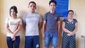 4 đối tượng Huyền - Diện - Huân - Hiên (từ trái qua phải) bị khởi tố, bắt tạm giam