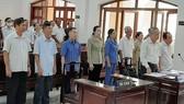 Các bị cáo tại phiên tòa ngày 23-6