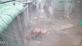 Hình ảnh camera an ninh ghi lại vụ việc