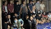 Nhóm đối tượng lúc bị bắt giữ