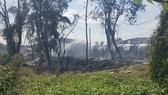 Hiện trường vụ cháy xưởng gỗ
