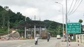 Trạm thu phí đặt trên QL3 cũ tại Km 77+922,5