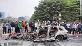 Vụ tai nạn xe Mercedes đâm liên hoàn làm chết 1 người vừa xảy ra tại Hà Nội