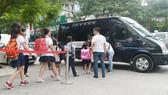 Xe đưa đón học sinh tại Hà Nội