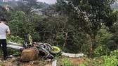 Hiện trường vụ tai nạn vừa xảy ra tại Tam Đảo