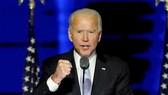 Ông Joe Biden tuyên bố giành chiến thắng tại buổi lễ ở quê nhà, thành phố Wilmington, bang Delaware, Hoa Kỳ, 8-11-2020. Ảnh: REUTERS