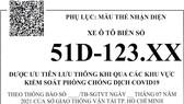 Mẫu thẻ nhận diện phương tiện