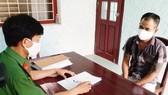 Nguyễn Văn Thiện (Bình Định) tại cơ quan điều tra.