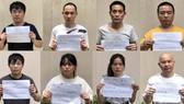 Nhóm nam nữ người Trung Quốc nghi nhập cảnh trái phép ở Công viên Gia Định, TPHCM, cuối tháng 7-2020.