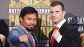Manny Pacquiao (trái) và Jeff Horn
