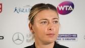 Maria Sharapova trong buổi họp báo sau khi lọt vào bán kết Tianjin Open