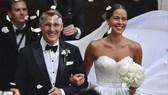 Ana Ivanovic và Bastian Schweinsteiger ở lễ cưới tại Venice