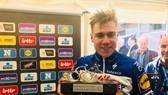Fabio Jakobsen ăn mừng chiến thắng