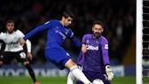 """Morata tiếp tục """"bế tắc"""" trong trận đấu với Derby County"""