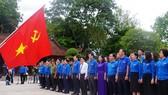 Thanh niên tiên tiến cả nước báo công dâng Bác tại Khu di tích Kim Liên