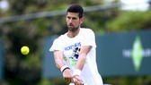 Djokovic tập luyện ở Stoke Park