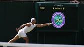 Rafael Nadal trong một buổi tập mới đây ở Wimbledon 2019
