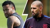 Valdes (phải) và Neymar