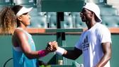 Naomi Osaka và HLV Jermaine Jenkins khi còn hợp tác