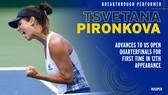 Pironkova lọt vào tứ kết US Open 2020