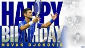 US Open chúc mừng sinh nhật 34 tuổi của Djokovic