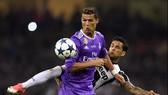 Ronaldo trong trận thắng Juventus ở chung kết Champions League mùa qua.