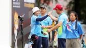 Tiến Cương và Kiều Oanh giành HCĐ nội dung phối hợp nam-nữ