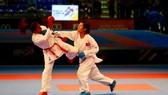 Nguyễn Thị Ngoan (đai xanh) tiếp tục thi đấu giải K1. Nguồn: W.K.F
