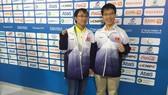 Hai đại kiện tướng giành chiếc HCV thứ 13 cho thể thao Việt Nam. Ảnh: THẾ HƯNG