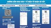 Online health declaration when entering, exiting Go Vap District from June 3