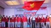Quang cảnh lễ của đoàn thể thao khuyết tật Việt  Nam. Ảnh: Dũng Phương
