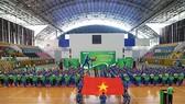 Quang cảnh lễ khai mạc giải Vovinam học sinh TPHCM. Ảnh: Nhật Anh