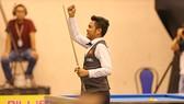 Nguyễn Trần Thanh Tự xuất sắc đánh bại tay cơ xếp hạng 2 thế giới Frederic Caudron. Ảnh: Dũng Phương