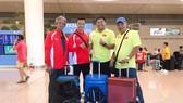 Hình ảnh đoàn Việt Nam lên đường tham dự giải điền kinh nội dung ném châu Á. Ảnh: Nhật Anh