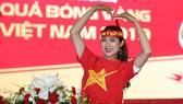 Hoa hậu du lịch được yêu thích nhất Tường Ty dự đoán Việt Nam - Thái Lan 2-0. Ảnh: Dũng Phương