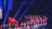 Đoàn thể thao Việt Nam trong buổi lễ khai mạc SEA Games 30. Ảnh: Dũng Phương