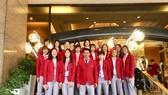 Toàn đội bóng chuyền nữ quyết có huy chương tại SEA Games 30. Ảnh: Nhật Anh