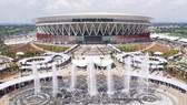 Quang cảnh nhà thi đấu Philippine Arena nơi diễn ra lễ khai mạc SEA Games 30 trong nhà đầu tiên trong lịch sử.