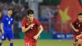Tiền đạo Nguyễn Tiến Linh người hùng của trận đấu giữa U 22 Việt Nam - U 22 Thái Lan. Ảnh: Dũng Phương